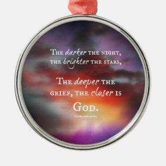 The Closer to God design Christmas Ornament