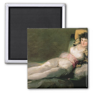 The Clothed Maja, c.1800 Square Magnet
