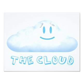 "The Cloud from ""The Bear, The Cloud, And God"" 11 Cm X 14 Cm Invitation Card"
