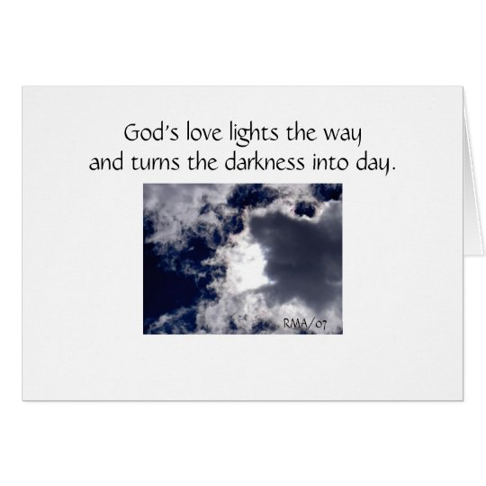 The clouds may cover the sky today - Sympathy Card
