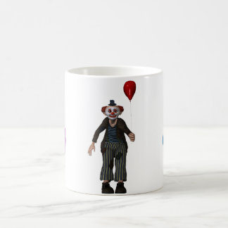 The clown and its balloon coffee mug