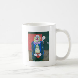 The clown fallen in love basic white mug