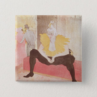 The Clowness Cha-U-Kao Seated, 1896 15 Cm Square Badge