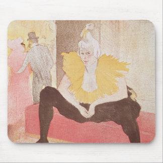 The Clowness Cha-U-Kao Seated, 1896 Mouse Mat