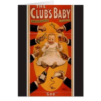 The Club's Baby, 'Goo!' Retro Theater Greeting Card