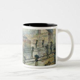 The Coal Workers, 1875 Two-Tone Mug
