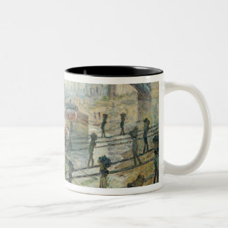 The Coal Workers, 1875 Two-Tone Coffee Mug