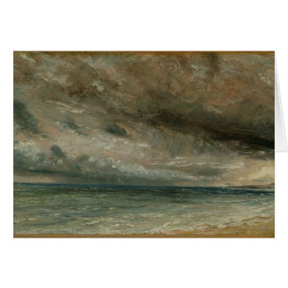 The Coast at Brighton - Stormy Evening, c.1828 (oi Card