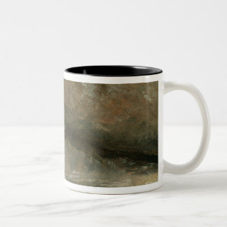 The Coast at Brighton - Stormy Evening, c.1828 (oi Two-Tone Coffee Mug