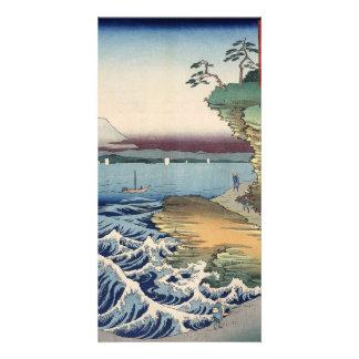 The coast at Hota in Awa province Personalised Photo Card