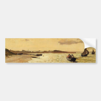 The Coast at Sainte-Adresse - Claude Monet Bumper Sticker