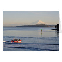 The Coast Guard and Mount Rainier Greeting Cards