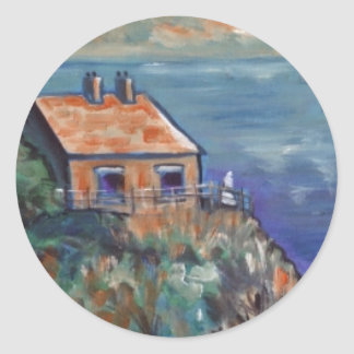 THE COAST GUARDS COTTAGE CLASSIC ROUND STICKER