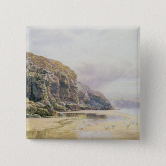 The Coast of Cornwall 15 Cm Square Badge