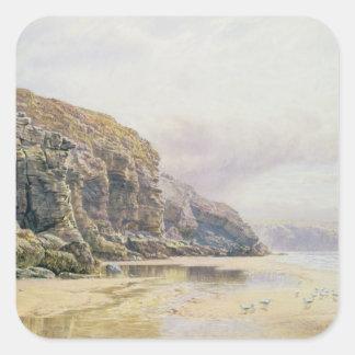 The Coast of Cornwall Square Sticker