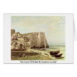 The Coast Of Etretat By Gustave Courbet Greeting Cards