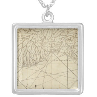 The Coast of New Spain from Neuva Silver Plated Necklace