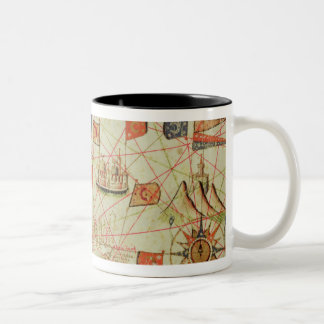 The Coast of Turkey and Cyprus Two-Tone Coffee Mug