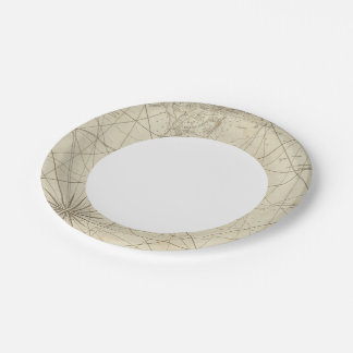 The Coast of West Florida and Louisiana Paper Plate