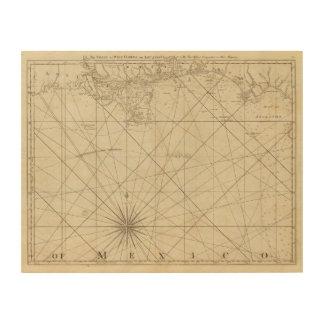 The Coast of West Florida and Louisiana Wood Print
