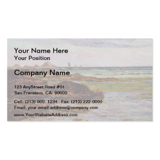The Coastline in Brittany by Maxime Maufra Double-Sided Standard Business Cards (Pack Of 100)