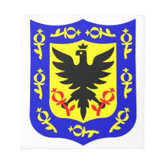The coat of arms of Bogota, Colombia. Notepad