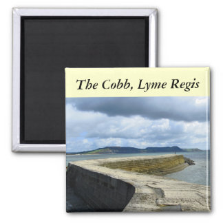 The Cobb, Lyme Regis Square Magnet