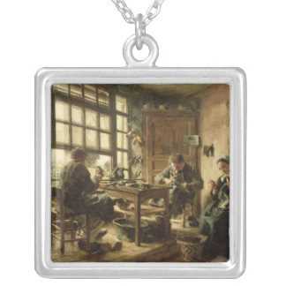 The Cobblers, 1880 Silver Plated Necklace