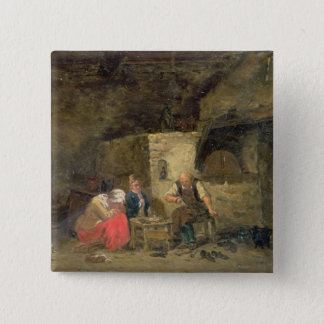 The Cobbler's (oil on panel) (pair of 134462) 15 Cm Square Badge