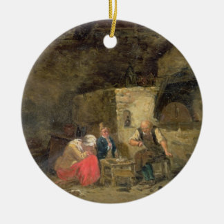 The Cobbler's (oil on panel) (pair of 134462) Christmas Ornament