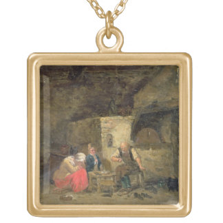 The Cobbler's (oil on panel) (pair of 134462) Gold Plated Necklace