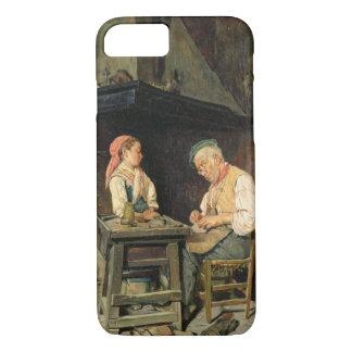The Cobbler's Shop, 1874 (oil on panel) iPhone 8/7 Case
