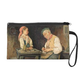 The Cobbler's Shop, 1874 (oil on panel) Wristlet Purses