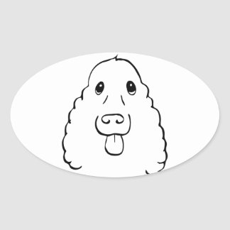 The Cocker Spaniel Oval Sticker