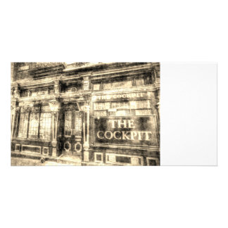 The Cockpit Pub London Vintage Customised Photo Card
