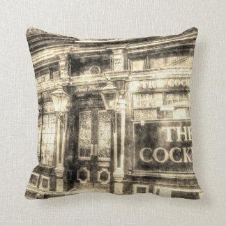 The Cockpit Pub London Vintage Throw Pillow