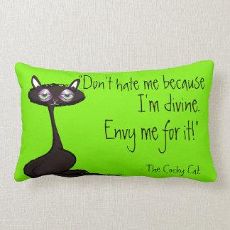 The Cocky Cat Lumbar Cushion
