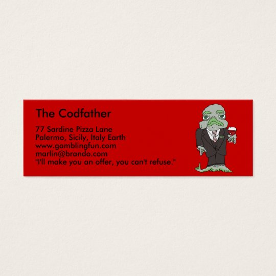 The Codfather Mini Business Card