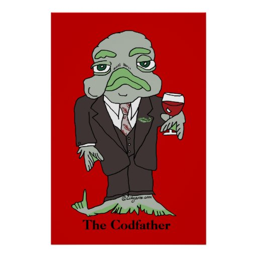 The Codfather poster print fish