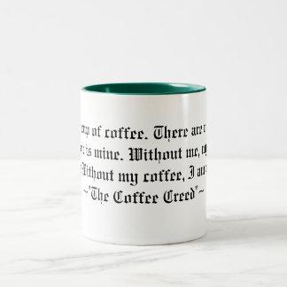 The Coffee Creed Two-Tone Coffee Mug