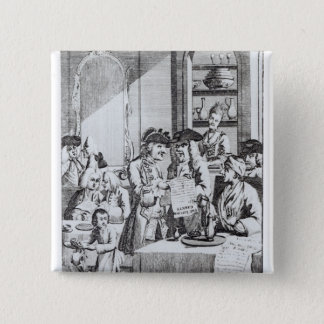 The Coffee House Politicians 15 Cm Square Badge