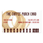 The Coffee Stain Punch Card Business Card Template