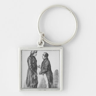 The Cointet brothers Silver-Colored Square Key Ring