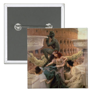 The Coliseum, 1896 (oil on panel) 15 Cm Square Badge