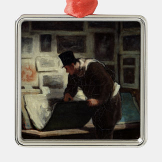 The Collector of Engravings, c.1860-62 Christmas Ornament