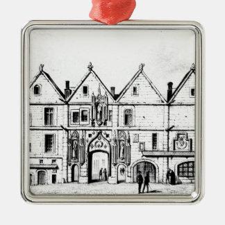 The College of Navarre in 1440 Silver-Colored Square Decoration