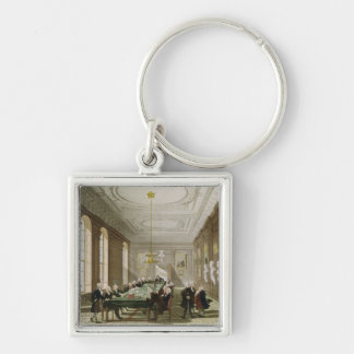 The College of Physicians Silver-Colored Square Key Ring