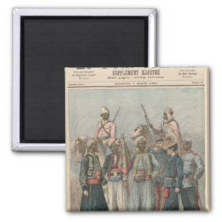 The Colonial Army Square Magnet