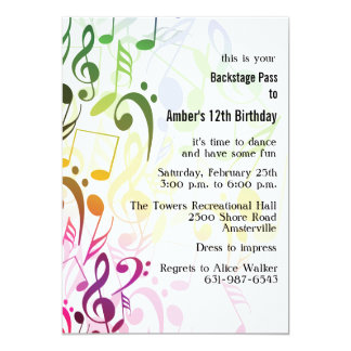 The Color of Music Invitation