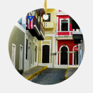 the color of old San Juan Puerto Rico Christmas Ornament
